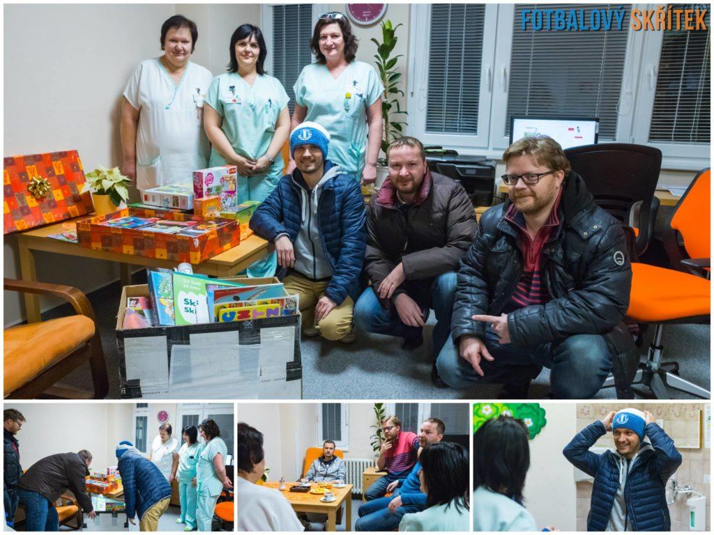 Fotbalový Skřítek - Vánoční sbírka pro dětské oddělení prostějovské nemocnice